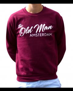 old man crew sweater maroon xl