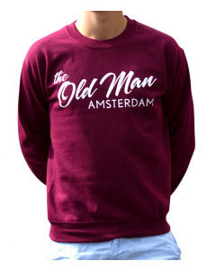 old man crew sweater maroon m