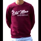 old man crew sweater maroon L